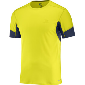 Salomon Agile SS Tee Men Sulphur Spring/Night Sky